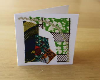 African Wedding Invitations - African Christmas Cards - African Greeting Card - African Print Birthday Card - Christmas Card Pack - Wedding