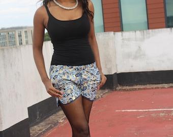 Womens Shorts African Shorts Wax Print Shorts Ankara Shorts Festival Shorts Hot Pants Short Shorts Booty Shorts Knickers African Hot pants