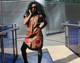 Dashiki Dress Dashiki Shirt Dress Ankara Shirt Dress African Shirt Dress African Clothing