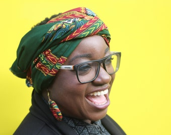 African Print Headwrap African Head scarf Wax Print Turban Ankara Head Scarf African Headtie Wax Print Headwrap Ankara Scarf head wrap