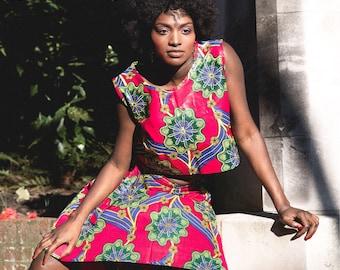African Wrap Skirt A-line Ankara Wrap Skirt Wax Print Skirt in Wax Festival Skirt African Skirt Summer Skirt African Print Skirt African Top