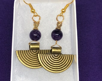 Christmas Present Crystal Earrings Amethyst Earrings Silve Earrings Crystal Jewellery Healing Crystal Earrings Amythyst Jewellery