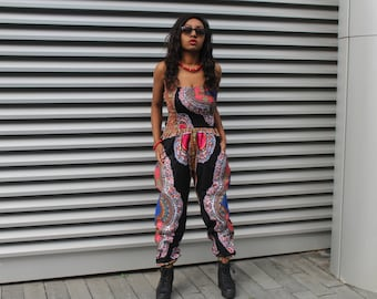 African Jumpsuit Dashiki Jumpsuit African Romper African Playsuit African Clothing