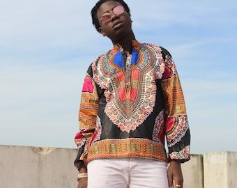 Dashiki Shirt African Top Festival Clothing Dashiki Top 90s Shirt African Two Piece African Shirt Festival Clothing Festival Shirt