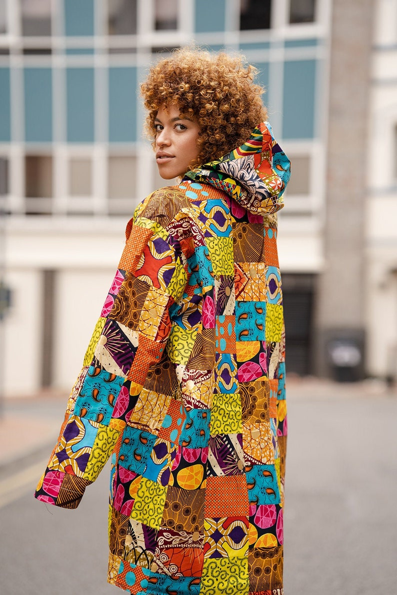 African Jacket Patchwork Jacket Made In Africa Patchwork Hoodie  African Parka In Patchwork