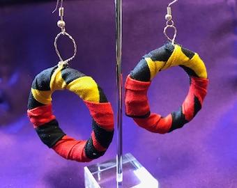 Large Hoop Earrings African Earrings Wax Print Earrings Ankara hoops African Hoops African Accessories Ethnic Jewellery African Jewellery