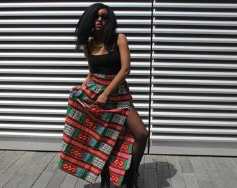 African Skirt African Maxi Skirt African Clothing Gold Skirt Festival Skirt Ankara Skirt Festival Dress African Dress Beach Skirt