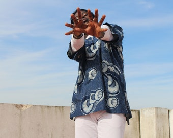African Shirt Oversized Shirt Ankara Shirt African Top Festival Shirt African Print Shirt Festival Clothing Festival Outfit African Clothing
