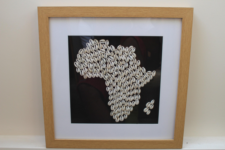 Map Of Africa Art.Handmade Africa Cowrie Shell Africa Map African Artwork African