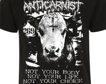 Vegan T Shirt 'Not Your Choice' By Anticarnist Vegan Clothing, Vegan T-shirt, Vegan shirt, Vegan tshirt