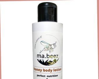 Silky skin: ma.beez honey body lotion (100ml)