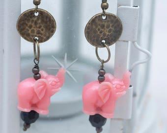 Spiritual Jewelry-India-Yoga-Buddha-Bronze Necklace-Bronze earrings-Elephant
