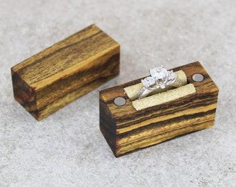 Engagement Ring Box // Wood Ring Box // Proposal Ring Box // Slim Engagement Ring Box // Ring Box // Engagement Box // Engagement Ring