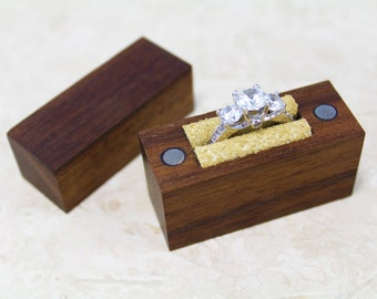 Engagement Ring Box // Wood Ring Box // Handcrafted Ring Box // Ring Box // Engagement Box // Proposal Ring Box // Wedding Ring Box
