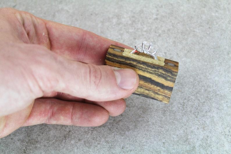 Engagement Ring Box  Wood Ring Box  Proposal Ring Box  Slim Engagement Ring Box  Ring Box  Engagement Box  Engagement Ring