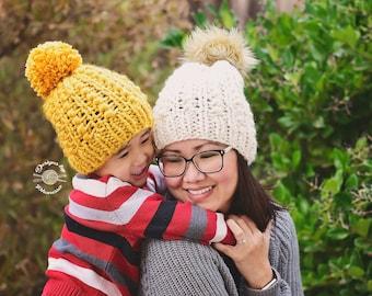 Knit Jordyn Beanie PATTERN | Knit Pattern | Knitting Pattern | Knit Hat Pattern | Instant Download Pattern