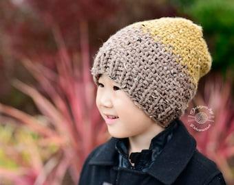 Knit Tyler Slouch Beanie PATTERN | Knit Pattern | Knitting Pattern | Knit Hat Pattern | Instant Download Pattern
