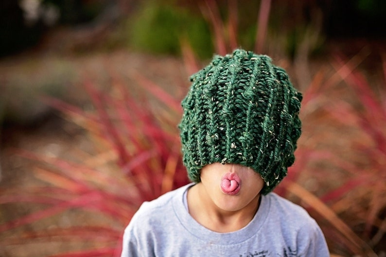 Knit Prickly Ribbed Beanie PATTERN  Knit Pattern  Knitting image 0