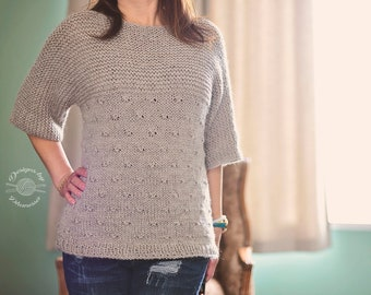 Knit Knotted Pullover Sweater PATTERN | Knit Pattern | Knitting Pattern | Instant Download Pattern