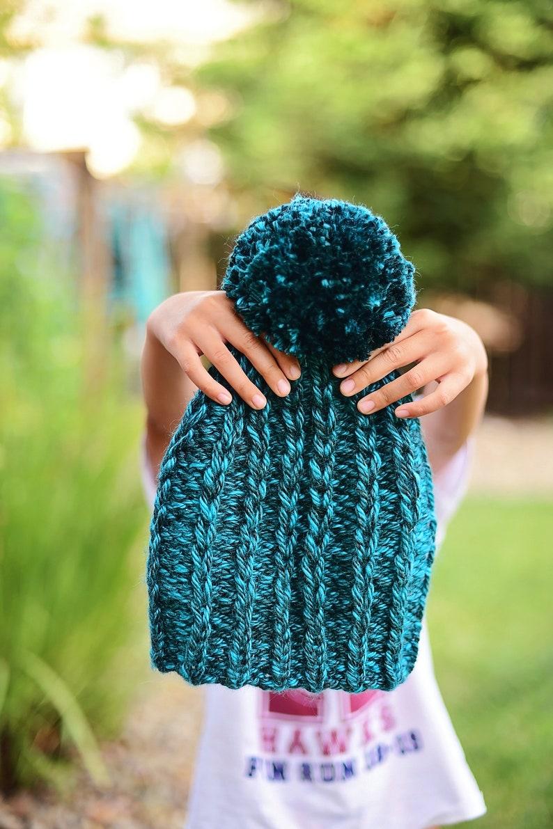 Knit Slipped Rib Slouch Beanie PATTERN Knit Pattern Slouch ...