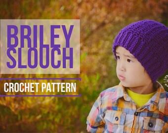 Crochet Briley Slouch Beanie PATTERN | Crochet Pattern | Cabled Hat | Crochet Cables Pattern | Instant Download