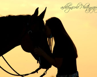 Silhouette Photography, Horse photography, Girl and horse, Girl and Horse Photography, Sunset Photography, Summer Sunset