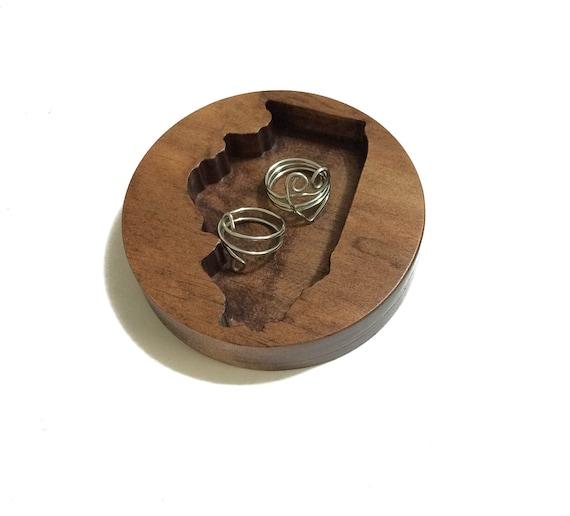 eeceb2b67d Illinois Ring Dish Jewelry Dish Wood Jewelry Holder Wooden | Etsy