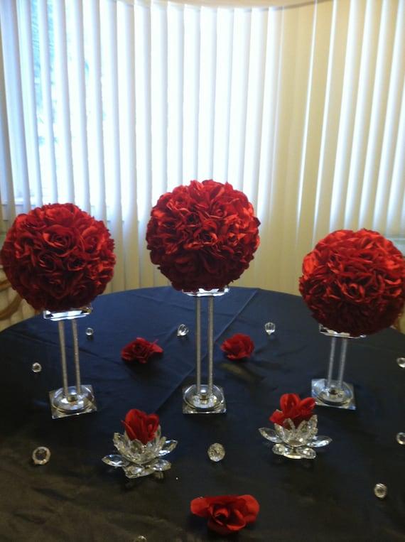 Four 8 Kissing Balls Pomander Ball Flower Ball Rose   Etsy