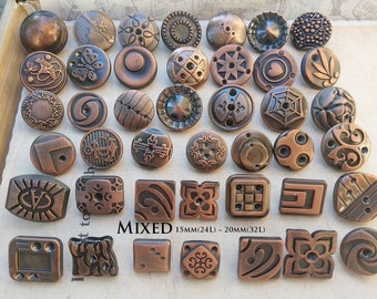 15mm Domed Metallic Finish Buttons Buttons for sewing and knitting B2