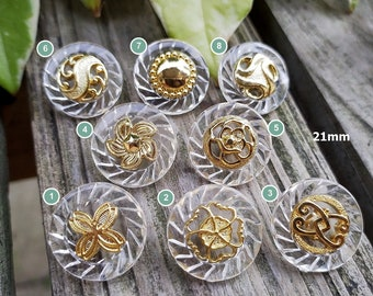 Pearlized Beige Windmill Design,13mm15mm18mm21mm25mm,High Quality Perfect craft material. Vintage buttons