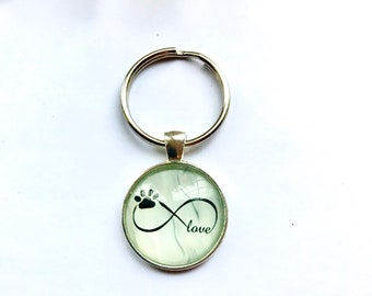 I LOVE YOU TO THE MOON AND BACK KEYRING Animal Lovers Paw Print Swift Charm