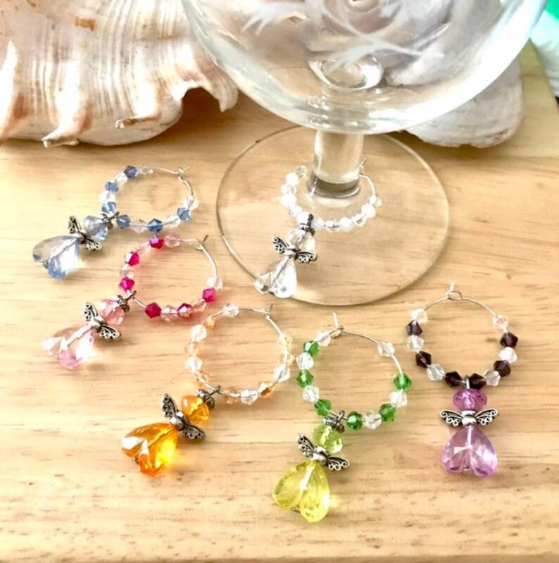 Angel Glass Charms,Wine Glass Charms