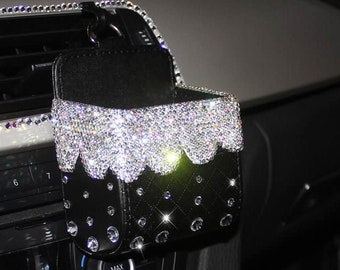 8eeee99f35 Bling Luxury Car Dash Air Vent Cell Phone Holder Box