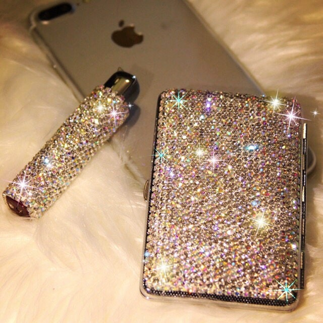 Cigarette Diamond: Bling Sparkly Beautiful Diamond Crystal Cigarette Case Box