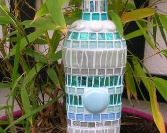 Mosaic bottle deco