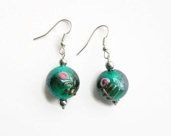 Pearl Earrings glass 'Italian style'