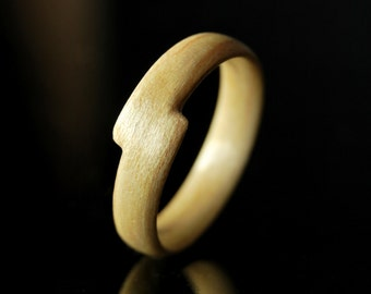 Unique Ring For Her · Handcrafted Wooden Ring Women · Bentwood · Maple Wood Ring • Gift For Her • Valentine Gift •  Valentine Gift For Her