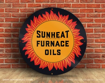 Metal Sign Vintage Look Reproduction 1930 Hercules Cast Iron Furnaces