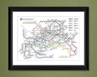 Seoul Subway Map 1980s.Seoul Etsy