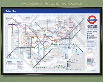 Map Subway London.London Tube Map Etsy