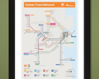 Sydney trains | Etsy