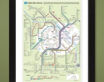 Vienna Subway Map.Vienna Subway Map Etsy