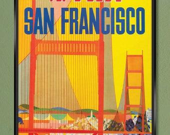 24x36 1962 San Francisco Vintage Style Travel Poster