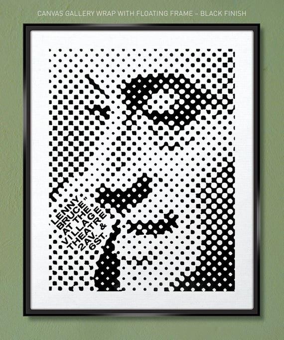 Vintage Lenny Bruce Victory Sign Comedy Usa 12X16 Inch Framed Art Print
