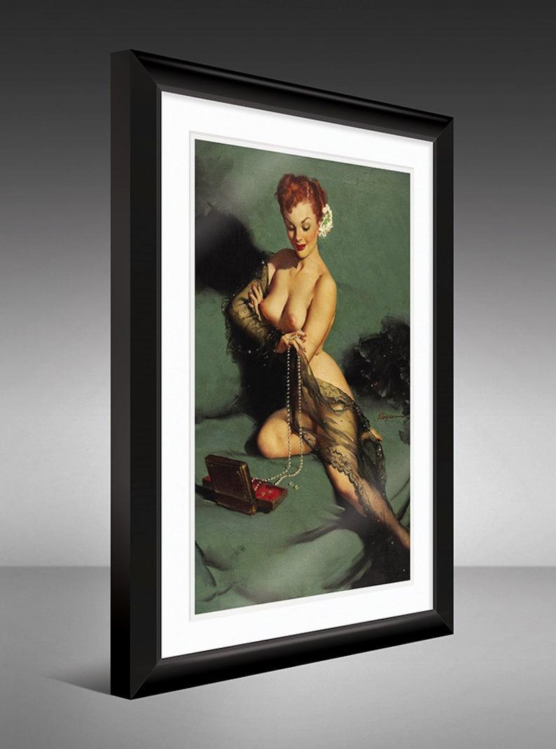 Gil Elvgren - Foil Proof   Framed Print   Calendar Girl