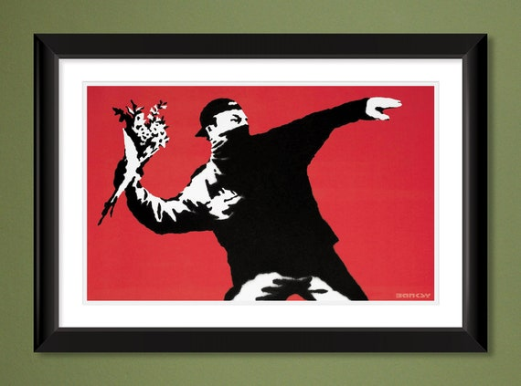 Banksy Holiday In Japan Street Art Canvas Print 16X12/""
