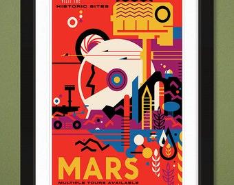 "NASA JPL ""Mars"" Visions of the Future (12x18 Heavyweight Art Print)"