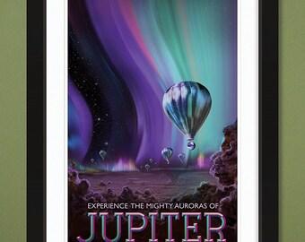"NASA JPL ""Jupiter"" Visions of the Future (12x18 Heavyweight Art Print)"