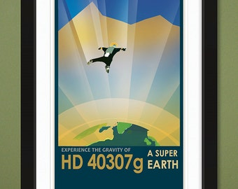"NASA JPL ""HD 40307g"" Visions of the Future (12x18 Heavyweight Art Print)"