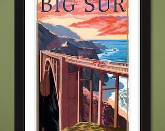 California – Big Sur – Bixby Bridge (12x18 Heavyweight Art Print)
